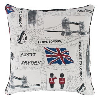 "Sherry Kline ""I Love London"" Down Filled 22-inch Throw Pillow"