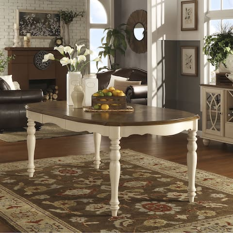 Shayne Country Antique Two-tone White Extending Dining Table by iNSPIRE Q Classic - Antique White