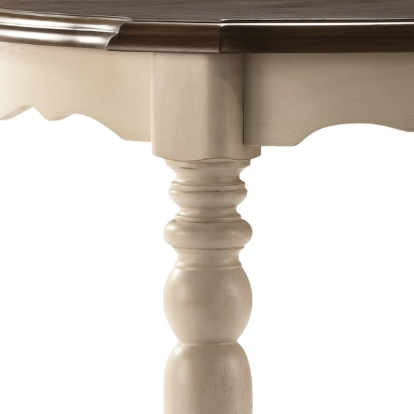 Shayne Country Antique Two Tone White Extending Dining Table By INSPIRE Q  Classic   Free Shipping Today   Overstock.com   17136470