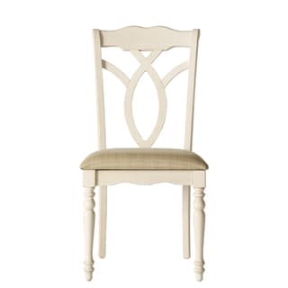 Shayne Country Antique Two-tone White Extending Dining Set by TRIBECCA HOME
