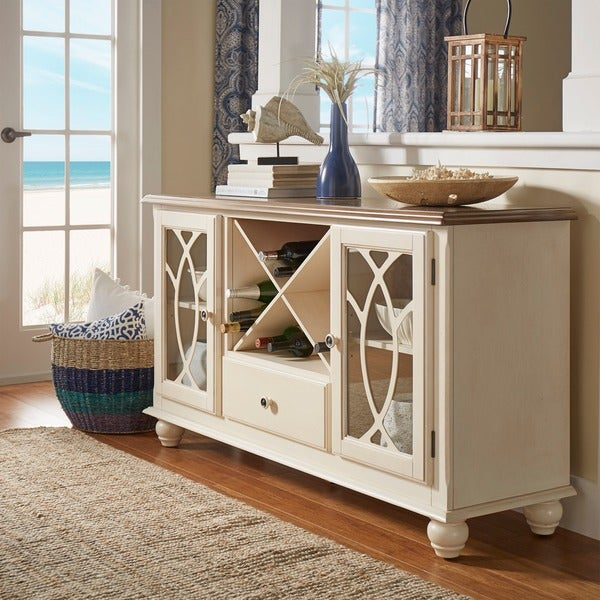 White Sideboards And Buffets: Shop TRIBECCA HOME Shayne Country Antique White Buffet