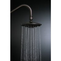 Oil Rubbed Bronze 10-inch Rain Showerhead with 17-inch Ceiling ...