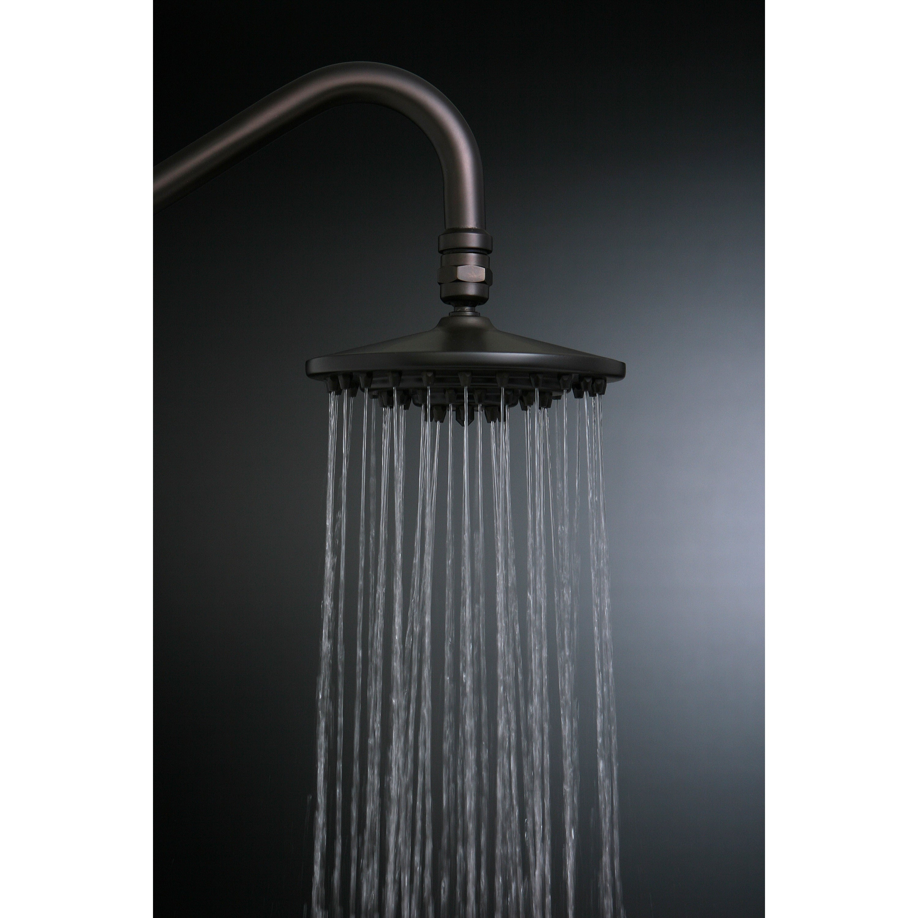 Rainfall Oil Rubbed Bronze 6 Inch Shower Head