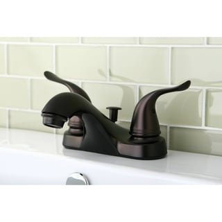 Oil Rubbed Bronze Double-lever Handle Bathroom Faucet