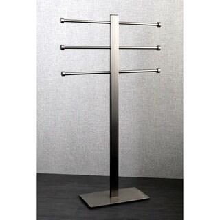 Satin Nickel Freestanding Stainless Steel Towel Holder