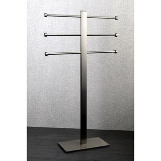 Brushed Nickel Freestanding Stainless Steel Towel Holder - Grey