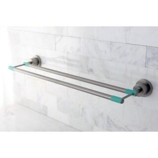 Modern Satin Nickel 24-inch Double Towel Bar