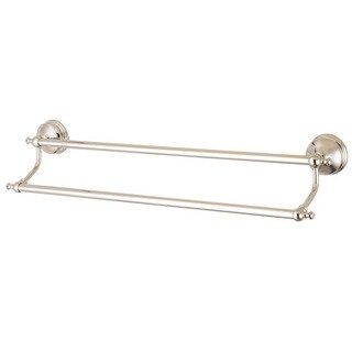 Vintage Polished Nickel 24-inch Double Towel Bar