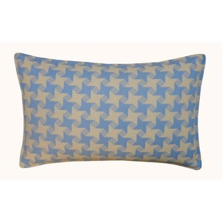 Jiti Outdoor Houndstooth Blue 20-inch Long Pillow