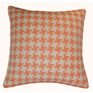 Jiti Outdoor Houndstooth Orange 20-inch Square Pillow