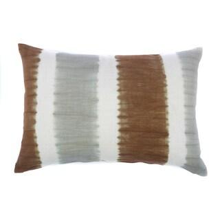 Jiti Tie-dye Bands Grey Chocolate 24-inch Long Pillow