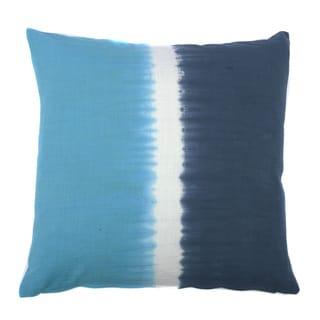 Jiti Tie-dye Halves Blue Steel 20-inch Square Pillow
