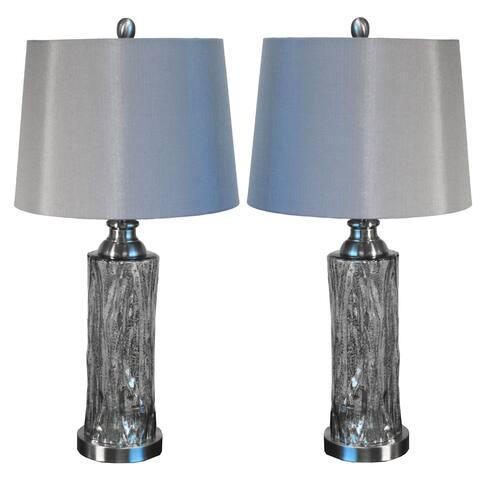 Casa Cortes Procida 27-inch Mercury Glass Table Lamp (Set of 2)