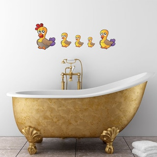 'Colorful Duck Family' Vinyl Wall Art