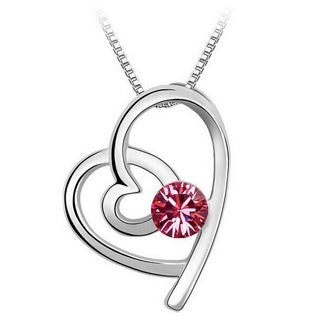 Princess Ice Platinum-plated Infinity Heart Crystal Pendant (4 options available)