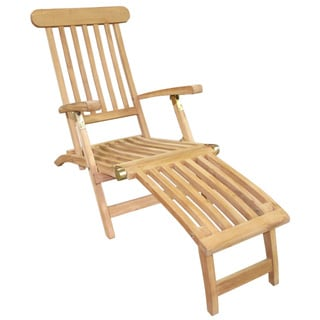 D-Art Teak Wood Natural Finish Deck Steamer, Handmade in Indonesia