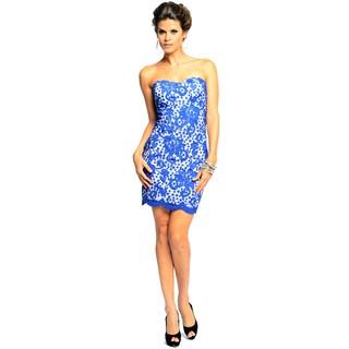 Sara Boo Allover Lace Strapless Dress