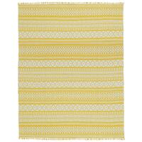 Yellow Geo Cotton Rug (10'x14') - 10' x 14'