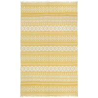 Yellow Geo Cotton Rug (3'x5') - 3' x 5'