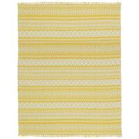 Yellow Geo Cotton Rug (9'x12') - 9' x 12'