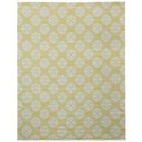 Yellow Medallion Cotton Jacquard Rug (8'x10')