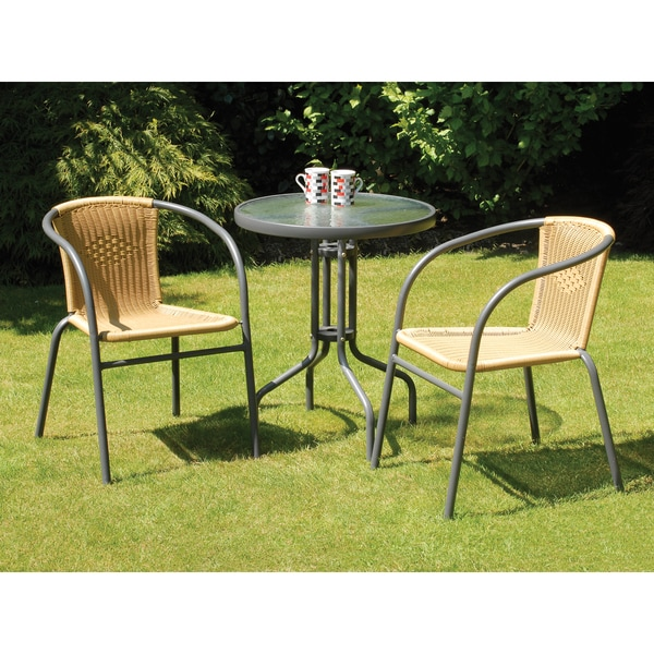 Shop Bambi Rattan And Steel Bistro Set 3 Pieces Free