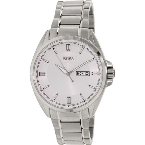 Hugo Boss Men's 1513040 Classic Round Silvertone Bracelet Watch
