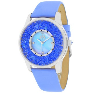Jivago Women's JV3417 Brillance Round Blue Leather Strap Watch