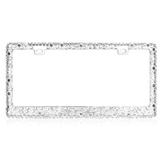 Insten Multiple Sized Chrome Car License Metal Frame Plate with White Crystals|https://ak1.ostkcdn.com/images/products/9987680/P17138403.jpg?impolicy=medium