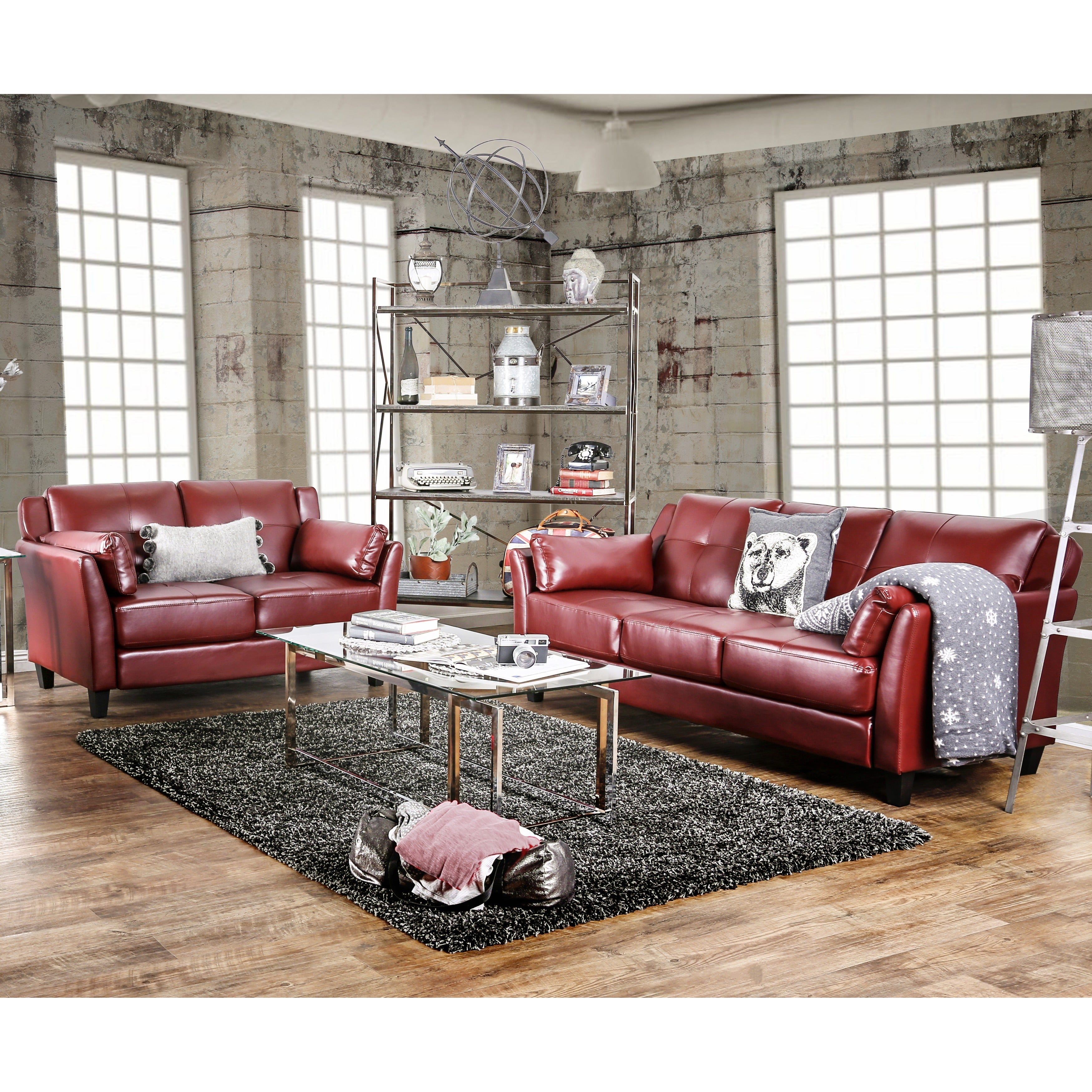 Shop Furniture Of America Pierson 2 Piece Double Stitched
