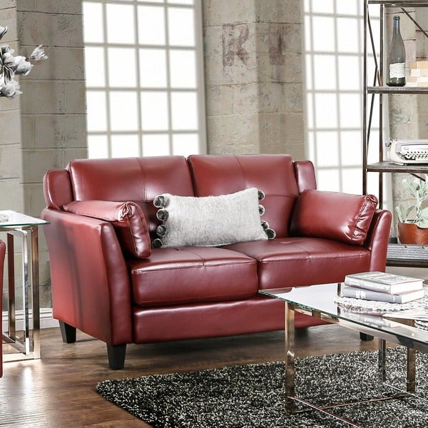 Shop Furniture Of America Pierson Double Stitched
