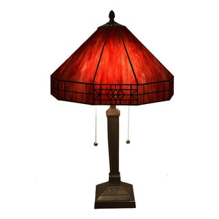 Link to Maeve Tiffany-style 2-light Red Table Lamp Similar Items in Table Lamps