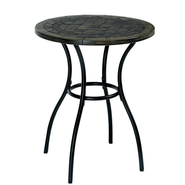 Furniture of America Viz Contemporary Black Metal Bistro Table