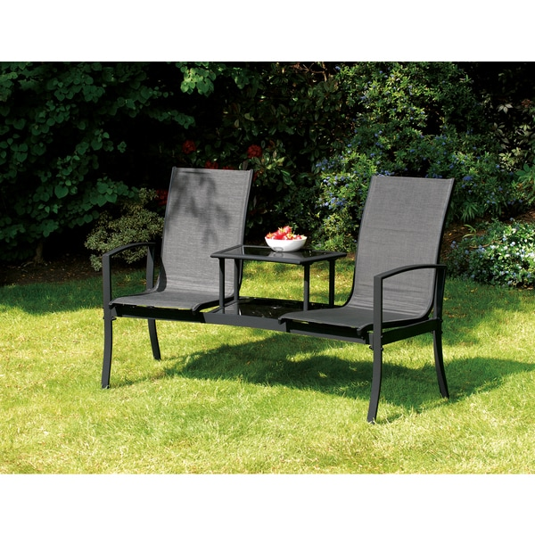 Shop Havana Black Duo Seat With Attached Table Free