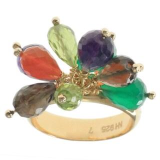 Michael Valitutti Gold Vermeil Cluster Gemstone Ring