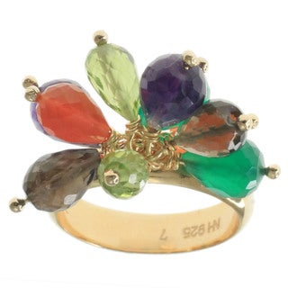 Michael Valitutti Gold Vermeil Cluster Gemstone Ring