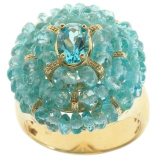 Michael Valitutti Gold over Silver Apatite Ring
