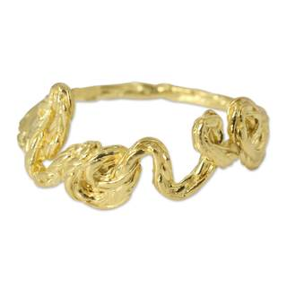 Handcrafted Gold Overlay 'Love' Ring (Thailand)