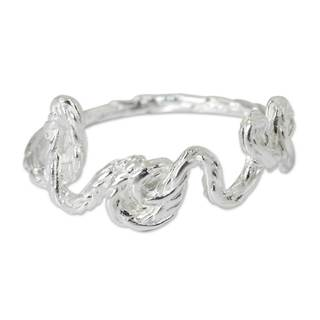Handcrafted Sterling Silver 'Love' Ring (Thailand)