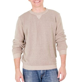 Handmade Men's Cotton 'Sporting Elegance' Sweater (Guatemala)