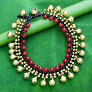 Handmade Brass 'Summer Chimes' Quartz Bracelet (Thailand)