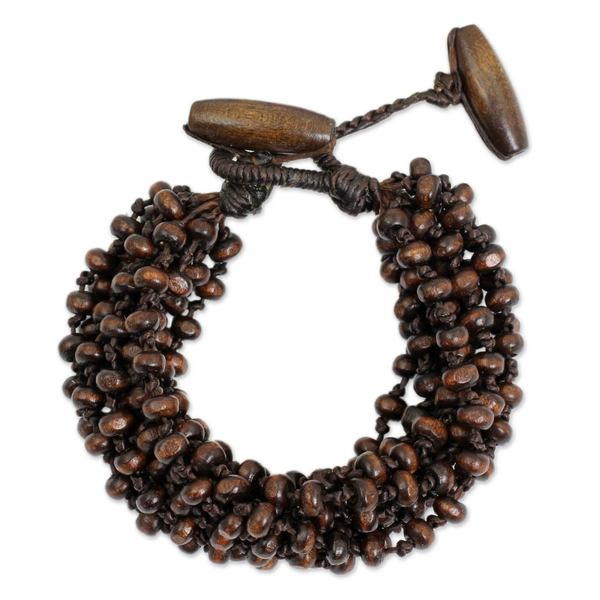 Handmade Littleleaf Boxwood 'Sukhothai Belle' Bracelet (Thailand)