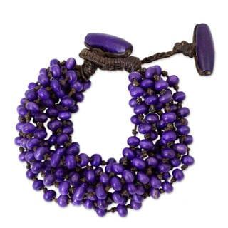 Handcrafted Littleleaf Boxwood 'Nan Belle' Bracelet (Thailand)