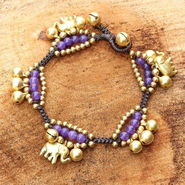 Handmade Brass 'Fortune's Melody' Quartz Bracelet (Thailand)