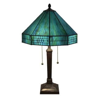 Maeve Tiffany-style 2-light Turquoise Table Lamp|https://ak1.ostkcdn.com/images/products/9987840/P17138546.jpg?impolicy=medium