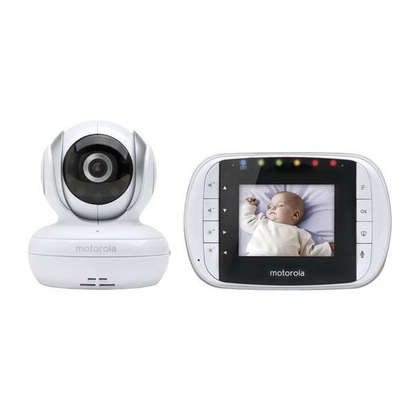 motorola mbp33s 2 8 inch digital wireless video baby monitor free shipping today overstock. Black Bedroom Furniture Sets. Home Design Ideas