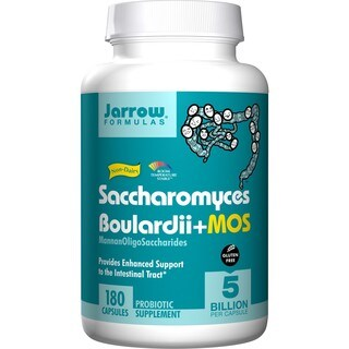 Jarrow Formulas Saccharomyces Boulardii + MOS Probiotic Capsules (180 Count)