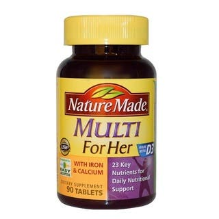 Nature Made Multi For Her Daily Vitamins (90 Tablets)|https://ak1.ostkcdn.com/images/products/9987910/P17138605.jpg?impolicy=medium