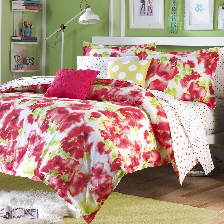 Teen Vogue Painted Poppy 3 Piece Comforter Set Overstock 9987911