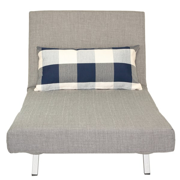 Cortesi Home Grey Convertible Futon Chair